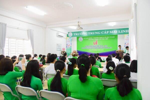 Lễ khai giảng trường trung cấp Mai Linh
